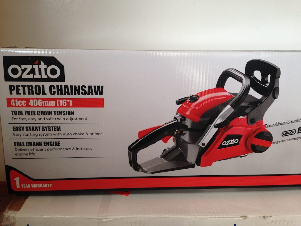Only mildly terrifying chainsaw.