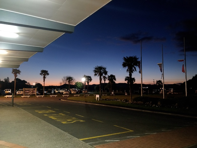 Sunset at Whangarei Airport