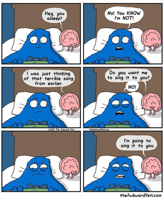 Heart and Brain. The Awkward Yeti. Singing in Bed.