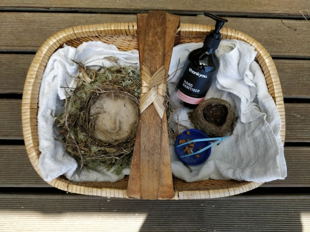 Basket with nest